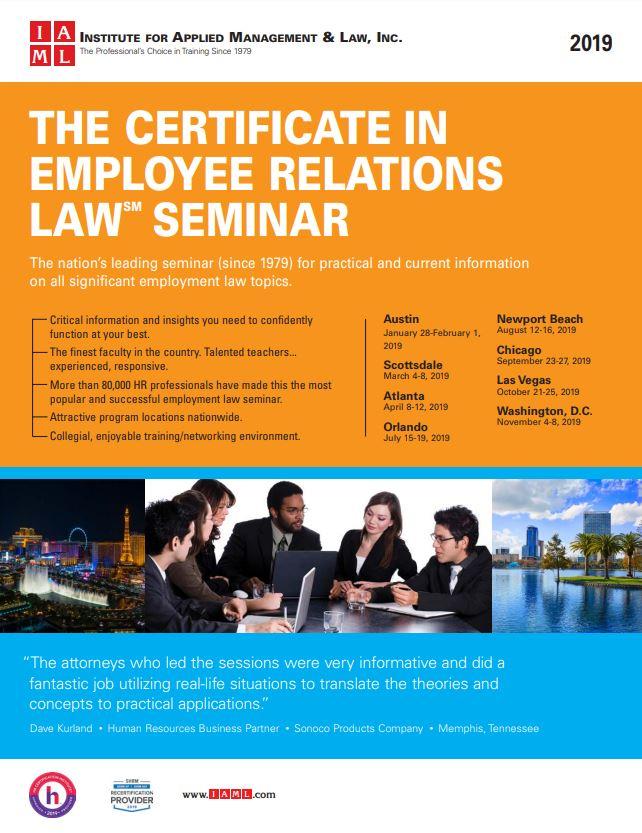 Certificate in Employee Relations Law Seminar