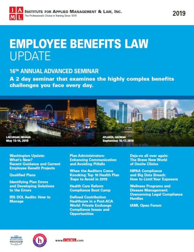 2020 Employee Benefits Law Update - 17th Annual Advanced Seminar