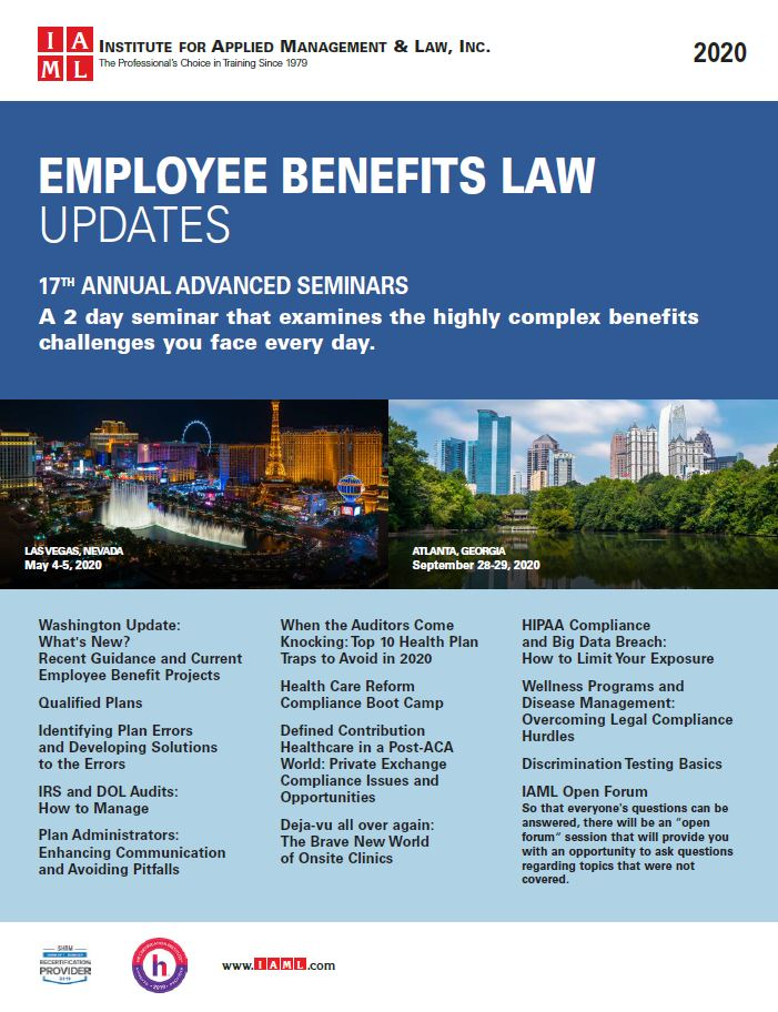 2020 Employee Benefits Law Update - 17th Annual Advanced Seminar