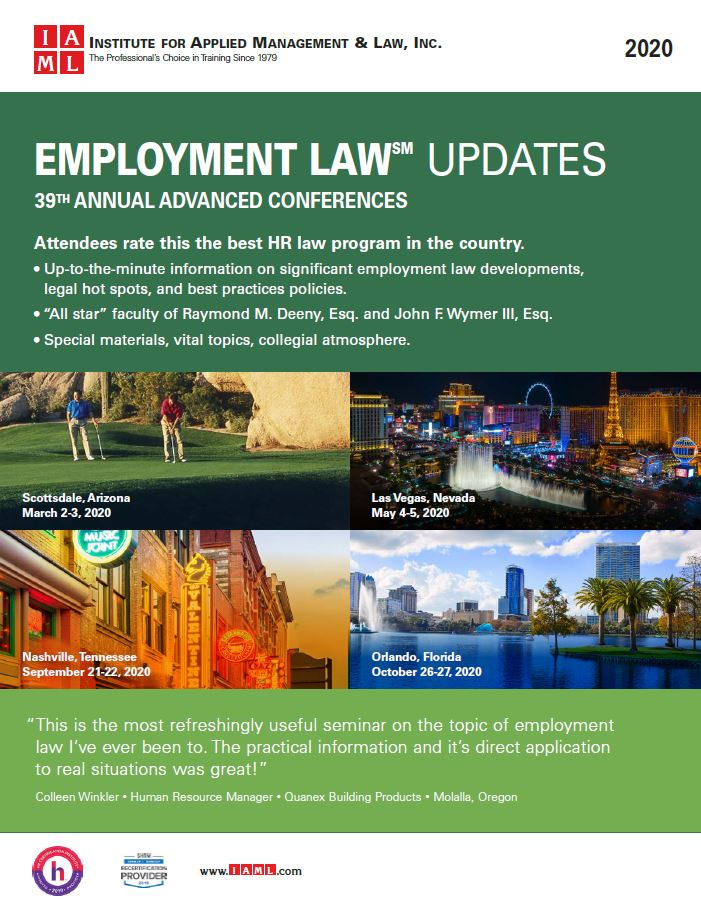 2020 Employment Law Update – 39th Annual Advanced Conference