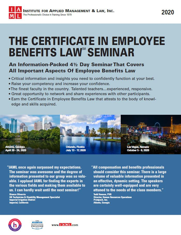Certificate in Employee Benefits Law Seminar