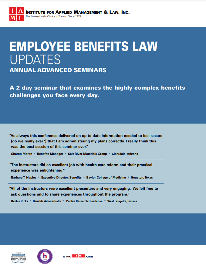 2021 Employee Benefits Law Update - 18th Annual Advanced Seminar