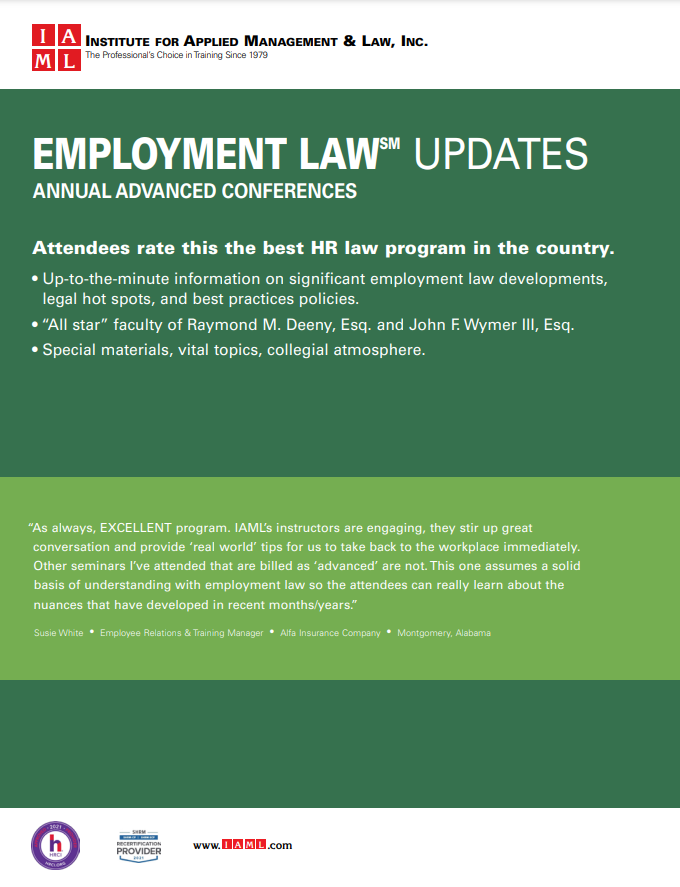2021 Employment Law Update – 40th Annual Advanced Conference